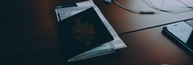 passport and earphones